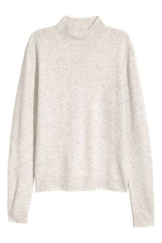 H&m Cashmere Grey Roll Neck Sweater Cashmere Turtleneck Jumper Sweater Cashmere Turtleneck, Merino Wool Sweater, Ribbed Sweater, Cashmere Sweaters, Roll Neck Sweater, Long Sleeve Sweater, Pantalon Costume, Lady Grey, Shopping