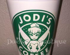 Belle travel coffee mug Starbucks por DoodlebugBoutique4u en Etsy