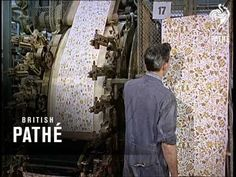 Perfect Match - Traditional hand-blocked as well as modern (al la 1968) machine-produced wallpaper and matching fabric.  British Pathe