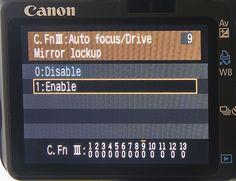 Canon DSLR Tips Mirror Lock up