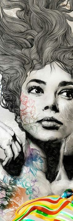 I love the unexpected drawings, and the white lines on the right. Gabriel Moreno: