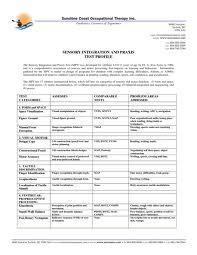 sensory integration disorder checklist pdf