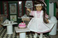 The AG Minis of SNICKERDOODLE STREET: *Opening* Mini Samantha's Birthday Dress
