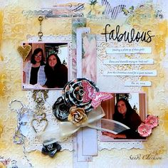 Fabulous ~ My Creative Scrapbook May 2015 LE Kit - Blue Fern Studios Montage collection along with some yummy Lemoncraft Painted Heart. Of course, lots of Prima and Marion Smith gorgeousness as well