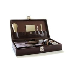 Vintage Brown Leather Men's Travel Grooming Kit by lakesidecottage, $28.00