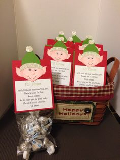 """""""Elf Kisses"""" ready for an upcoming craft fair. I wonder if it is too early to put out Christmas things?"""
