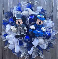 Disney Christmas Wreath Disney Christmas Mickey & by BaBamWreaths