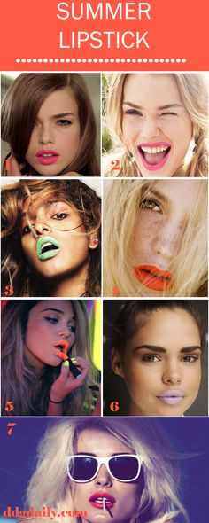 Summer lipstick shades in creamy corals, neons, pastels, pinks and reds... YES PLEASE!!