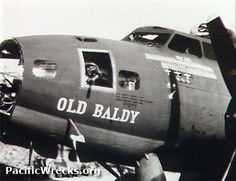 OLD BALDY, #41-24455, was a long-serving 63rd Squadron B-17. By the time it left the Pacific Theater on October 26, 1943, it carried an extensive scoreboard of 66 combat missions, 6 medals, 3 Japanese fighters shot down, 3 ships sunk, 2 searchlights, and 1 enemy gun position destroyed. Read more about this plane's service in Ken's Men Against the Empire, Vol. I. http://irandpcorp.com/products/43bg1/