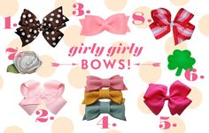Girly Girly Bows from Lay Baby Lay