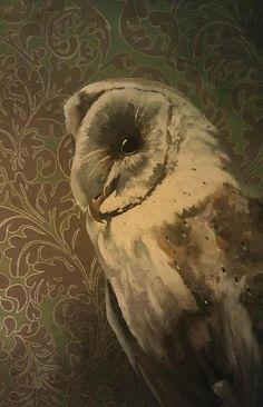 owl painting by Mincingmockingbird