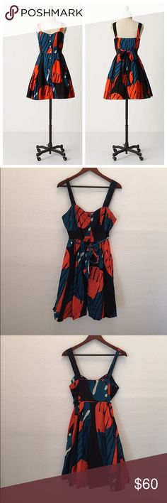 "Anthropologie 'FRAGMENTED PIPEVINE DRESS' Like new,  So fast they flit! Mere glimpses of grand butterfly wings are visible on Maeve's sash-wound voile dress. Side pockets Button front Cotton; cotton lining Machine wash 32.5""L Anthropologie Dresses"