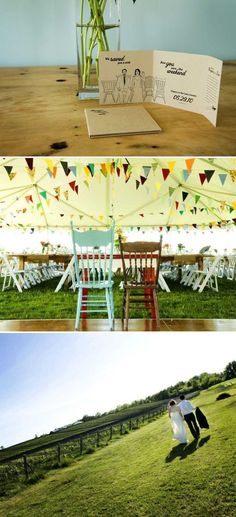 love the bunting for then tent! via @StyleMePretty