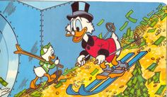 Scrooge McDuck is a very famous fictional cartoon character. Carl Barks created this character. Scrooge is the miser and rich maternal uncle of Donald Duck. Ebenezer Scrooge, Disneyland, Forbes Magazine, Don Rosa, Dagobert Duck, Mega Sena, Uncle Scrooge, Scrooge Mcduck, Comics