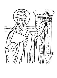 some saints of november coloring pages