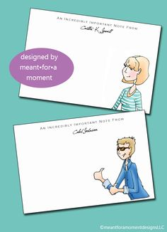 Custom Personalized Stationary, by Meant for a Moment Designs