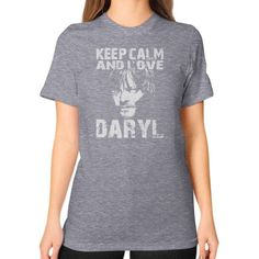 Keep calm and love dx Unisex T-Shirt (on woman)