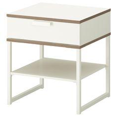 TRYSIL Bedside table - dark brown/black - IKEA £25