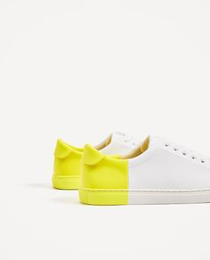 TWO-TONE PLIMSOLLS from Zara
