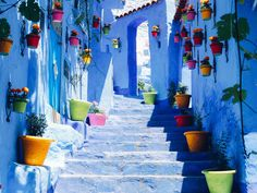 Hidden high in Morocco's Rif Mountains, the all-blue town of Chefchaouen is a calming respite from the overwhelming frenzy of Marrakech and Fez. Photographer and writer Lucy Laucht takes us on a tour of Morocco's hidden gem.