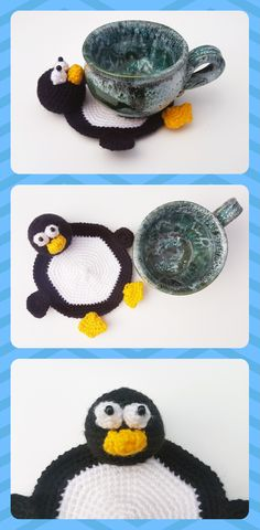 Penguin decor, kitchen decor, drink coasters, geeks gifts, table coaster, penguin gift, Crochet coaster, animal coaster, funny coaster, arctic animal, crochet Penguin, Arctic decor, penguin lover gift --------------------------------------------------------------------------------------------------------- This is Crochet Coaster Penguin. He is crocheted from orange and beige acrylic yarn and filled with fyberfill.