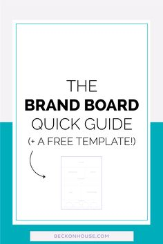 The Brand Board Quick Guide (+ a free template!) — Step-by-step guide on creating a brand board, including your brand's logo, secondary logo, submarks, color palette, patterns, textures, and fonts.  Great for keeping your brand consistent as a blogger, business owner, or entrepreneur.  Click to read and download your FREE Brand Board Template!