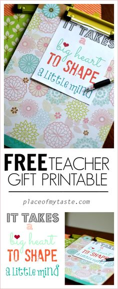 Teacher Appreciation gift ( clipboard with matching pen) - Place Of My Taste