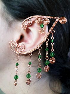 Elaborate Ouchless Elven Ear Wrap Set Custom by alyssblackapparel, $45.00