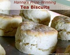 Hanna's Prize-Winning Tea Biscuits | Recipe Devil.  I tried these and they were really good and easy!