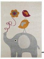 Kinderteppich Fantasia Birdies and Elephant Orange
