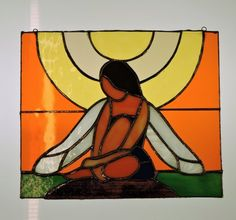 """Aftenens alf"" Stained glass design by Laila Cichos, all rights reserved"