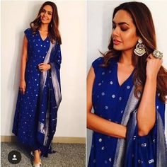 Esha Gupta In Indianwear – We're Lovestruck We've seen the sexy siren don some really cool outfits but when she's in ethnic Indian wear – she is perfect! The Anita Dongre kurta and churidaar in blue is very becoming on her – perfect for all kinds of social events! We heart those earrings she is wearing.... Get the look https://www.estrolo.com/whatstrending/esha-gupta-indianwear-lovestruck/