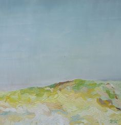 """Sand and grass"" Janika Turu. Oil on Plywood. 2014. 60x60 cm. Available."