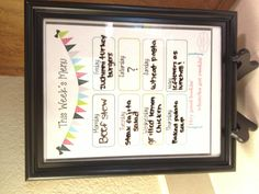Thanks to orchardgirls.blogspot.com free printable, I now have a super fun menu so I can plan my meals out for the week! Definitely adds a nice touch to my colorful kitchen.