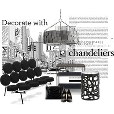 Monty chandelier... by gloriettequartet on Polyvore featuring interior, interiors, interior design, home, home decor, interior decorating, Mitchell Gold + Bob Williams, Arteriors and Yves Saint Laurent