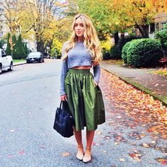 Cropped Sweater Street Style via @WhoWhatWear