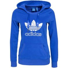 Adidas Originals Slim Hoodie ($69) ❤ liked on Polyvore featuring tops, hoodies, sweatshirts, adidas, adidas originals, blue, jumpers & cardigans, womens-fashion, sweatshirt hoodies and hooded pullover