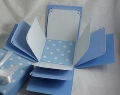 The product 200 pcs exploding gift box embellishment diy kit blue polka dot explosion box exploding box photo by frostjewel negle Images