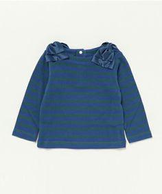 03bbcd1ddf1c9  セール リボン付きボーダーT AW16(Tシャツ カットソー) D.fesense(ディーフェセンス)のファッション通販 - ZOZOTOWN