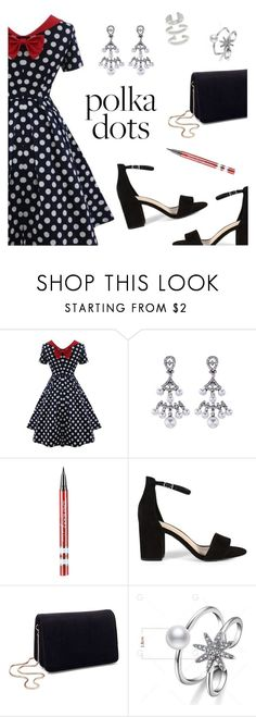 """""""Polka dots"""" by dressedbyrose ❤ liked on Polyvore featuring Miss Selfridge, Steve Madden and vintage"""