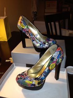 Made to Order Custom Comics Heels by LesChiensetVaches on Etsy, $69.95