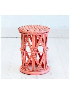 Childs Peacock Side Table Peach by The Family Love Tree