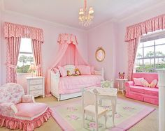 Pink-and-White-Color-Scheme-with-Canopy-Trundle-Bed-and-Sofa-with-Cushions-in-Girls-Bedroom-Design-Ideas.jpg 455×364 pixels