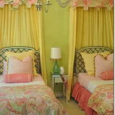 Girl's Room (Curtains for the Princess room- MacKenna and Grayse) Home Bedroom, Girls Bedroom, Bedroom Decor, Bedroom Photos, Princess Room, Home And Deco, Little Girl Rooms, My New Room, Beautiful Bedrooms