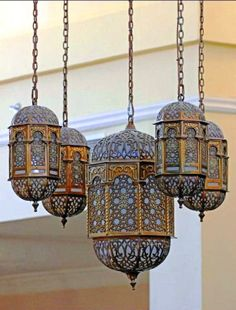Arabic lanterns sold in the souks.