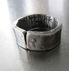 Heavy+Textured+Sterling+Silver+Ring+for+Cracked+at+by+mLindvall