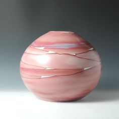 Takaharu ONO (Japanese: 1953) -  Jar Vessel with under glaze Red & glaze Inlay decoration C