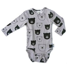 Our bear cub bodysuit is the perfect little ensemble for a baby boy. Style with Bolt Leggings and Bear Cub Drib! Bear Face, Bear Cubs, Long Sleeve Bodysuit, Little Ones, Baby Boy, Boys, How To Wear, Clothes, Collection