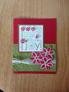 Stampin Up handmade Christmas card green garland by treehouse05