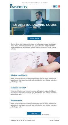 Universidades y academias de estudios superiores... ¡estáis de suerte! Sabéis lo importante que es la comunicación, por eso es necesario hacer emailing con Mailify, para llegar a todos vuestros alumnos. Las plantillas newsletter adaptadas son la mejor opción para ello.